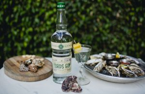 Fords Gin Martini and Oysters