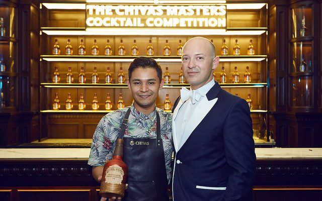 Alejandro Millán Ponce De León, Chivas Masters Cocktail Competition Winner 2016, with Max Warner