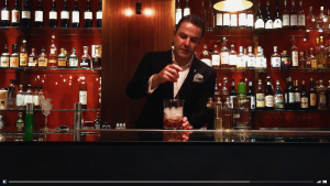 Philip Duff creates a cocktail for Derren Brown